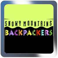 snowy mountains backpackers logo