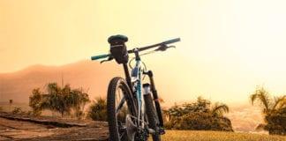 Bike on a ground