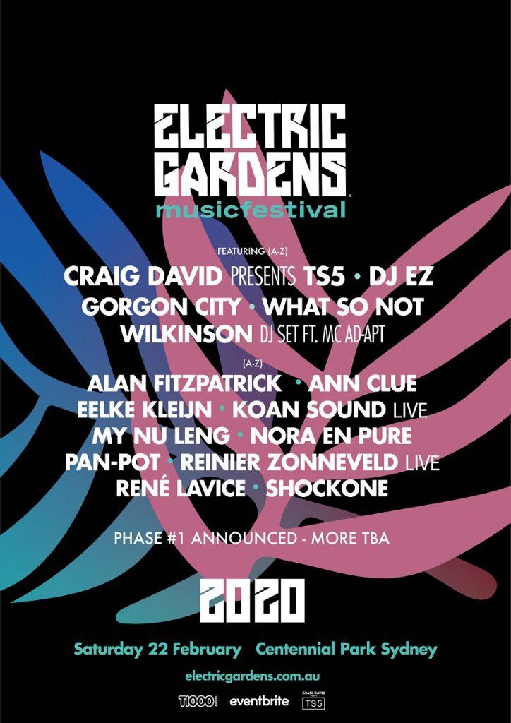 Electric Gardens Sydney - 2020 LINEUP